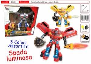 ROBOT CON LUCI CON SPADA CM 20 3 COLORI - Toys Garden (26590)