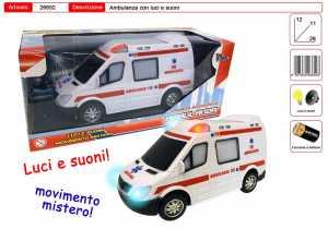 AMBULANZA CON LUCI E SUONI MOV MISTERO CM 22 - Toys Garden (26652)