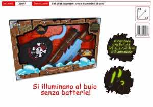 SET PIRATI LUMINOSI AL BUIO ARMI Accessori - Toys Garden (26677)