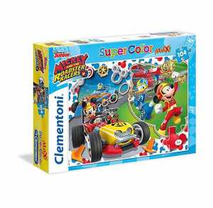 Clementoni 24481 - Maxi Puzzle Mickey Roadster Racers, 24 Pezzi