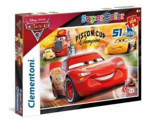 Clementoni 27075 - Puzzle Cars 3, 104 Pezzi