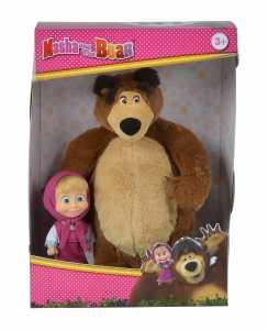 Simba 109301002Masha E Orso Set Con Peluche Orsetto E Bambola, Piccolo