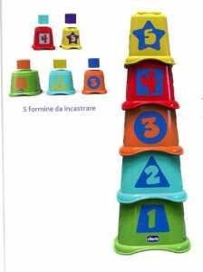 Chicco Gioco 2 In 1 Tazze Impilabili, Multicolore, 00009373000000