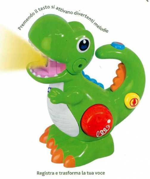 Chicco 00009613000000 - Gioco Dino Cambia Voce E Torcia, Verde