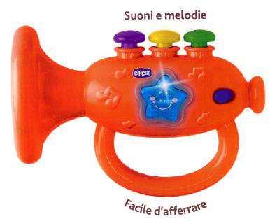 Chicco Gioco Tromba Musicale, Arancione,00009614000000