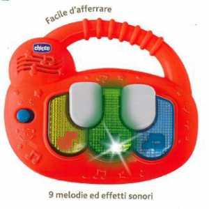 Chicco 00009619000000 - Gioco Piano Musicale, Arancione
