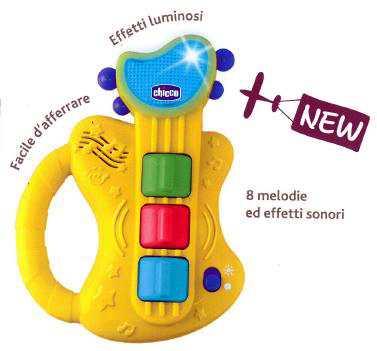 Chicco Gioco Chitarra Musicale, Giallo, 00009620000000