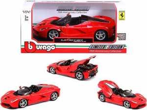 Bburago 18-26022 - Ferrari Aperta - 1:24, Colore Rosso/Nero