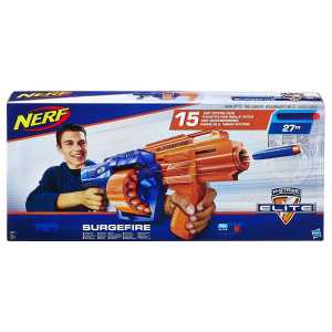 Hasbro Nerf E0011EU4 N-Strike Elite SurgeFire, Blaster Con 15 Dardi, Eta 8 + Anni