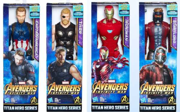 AVENGERS Personaggio:i TITAN HERO CM 30 POWER FX MOVIE A 4 SOGGETTI - Hasbro (E0570eu4)