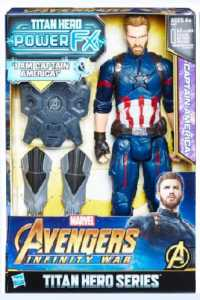 Hasbro Marvel Avengers - Infinity War Captain America Titan Hero Power FX, Personaggio 30 Cm, Action Figure, E0607103
