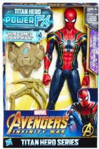 Hasbro Marvel Avengers - Infinity War Iron Spider Titan Hero Power FX, Personaggio 30 Cm, Action Figure, E0608103