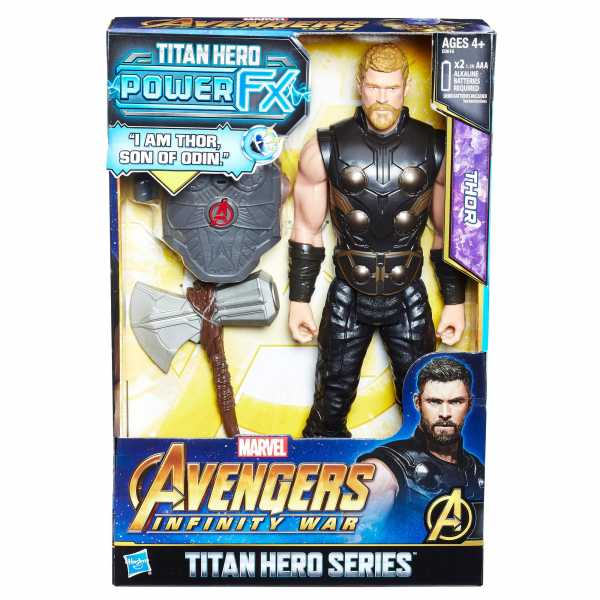 Hasbro Marvel Avengers Infinity War Thor Titan Hero Power FX, Personaggio 30 Cm, Action Figure, E0616103