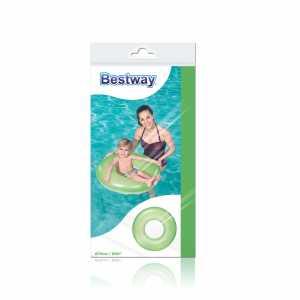 Bestway 36024 - Salvagente Trasparente Neon, 2 Toni Di Colore, 76 Cm, Multicolore
