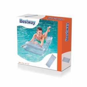 Bestway 43024 - Materassino 18 Buchi Abbronzante Con Cuscino, 188 X 74 Cm, Azzurro