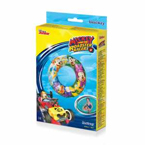 Bestway Disney - Mickey Mouse Clubhouse Inflatable Swim Ring 56cm - Baby Swim Floats (Swim Ring, Multicolour, Vinyl, China, Full Color Box)