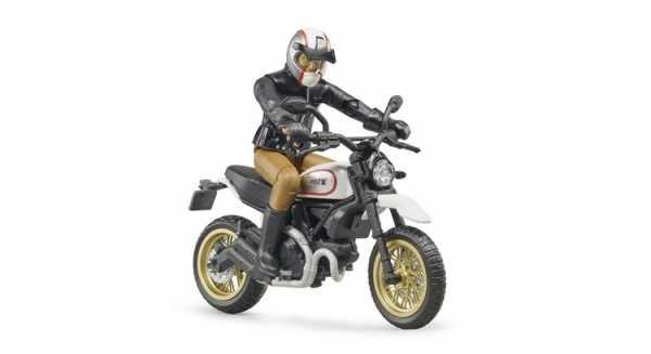 Bruder–63051–Moto Ducati Desert Sled Con Motociclista