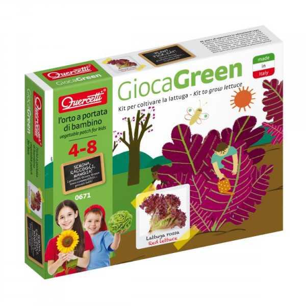 Quercetti 0671 - Gioco Green Lattuga Rossa