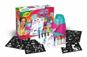 CRAYOLA- Color Spray Pink Aerografo A Carica Manuale Per Pennarelli, Per Gioco E Regalo, 25-8732