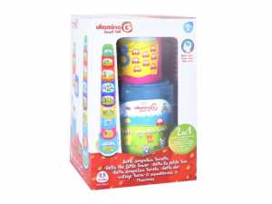 Globo - Stacking Cup 70 Cm 8 Pezzi W/Bucket And 6 Shapes (05320), Multicolore (1)