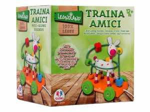 Globo Giocattoli Globo–376952assortiti Legnoland In Legno Da Trainare Animale Con Labirinto