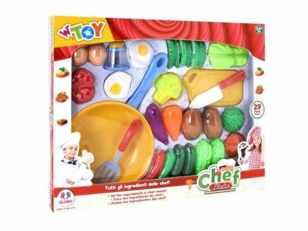 Globo - Frying Pan/W/Food/Acc 29 Pezzi (39047), Multicolore (1)