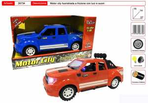 GIOCO MOTOR CITY FUORISTRADA A FRIZIONE CON LUCI E SUONI CM 15X14 - Toys Garden (26734)