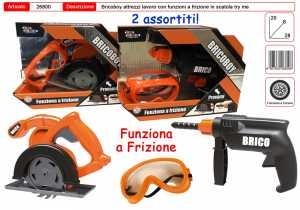 TRAPANO E MOTOSEGA 28 CM LUCI E SUONI CON ACCESSORI - Toys Garden (26800)