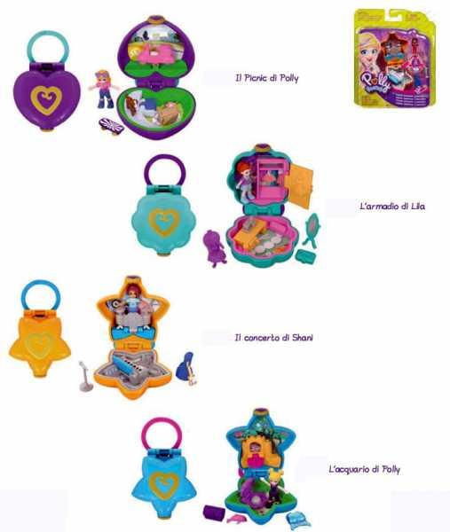 Polly Pocket Il Picnic Nuovo Cofanetto, Coloratissimo Gancetto, Una Micro-Doll,, FRY30