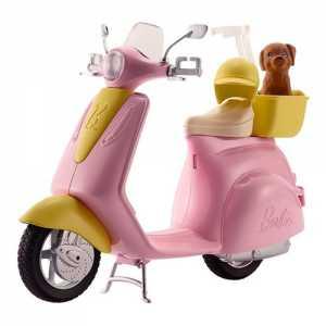 Barbie Scooter And Cagnolino - Con Cucciolo E Casco Inclusi, FRP56