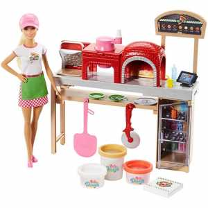 BARBIE PIZZA CHEF PLAYSET - Mattel (Fhr09)