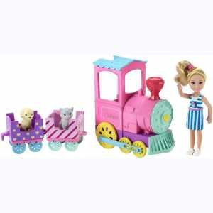 Barbie Ciuf Club Chelsea Trenino E Bambola Con 3 Vagoni Agganciabili E 1 Gattino E 1 Cagnolino, Multicolore, FRL86