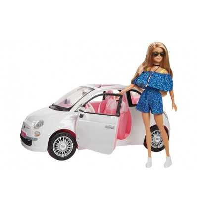 Barbie Fiat 500 Con Dettagli Realistici, Portieri Apribili E Ruote Che Si Muovono, FVR07