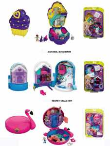 Polly Pocket Cofanetto Bar Degli Zuccherini, Playset Con 2 Bambole, Un Micro Veicolo E Tanti Accessori, FRY36