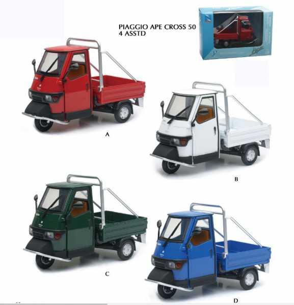 New Ray 680351New Piaggio Ape, Moto - Scale 1:18, Colori Assortiti