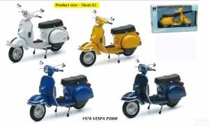 New Ray NY42123R Vespa P 200 E 1978 Red 1:12 MODELLINO Die Cast Model Compatibile Con