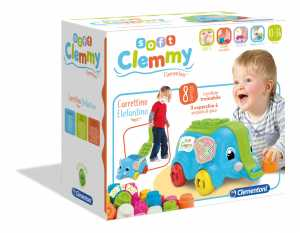 Clementoni - 17162 - Soft Clemmy - Carrettino Elefante