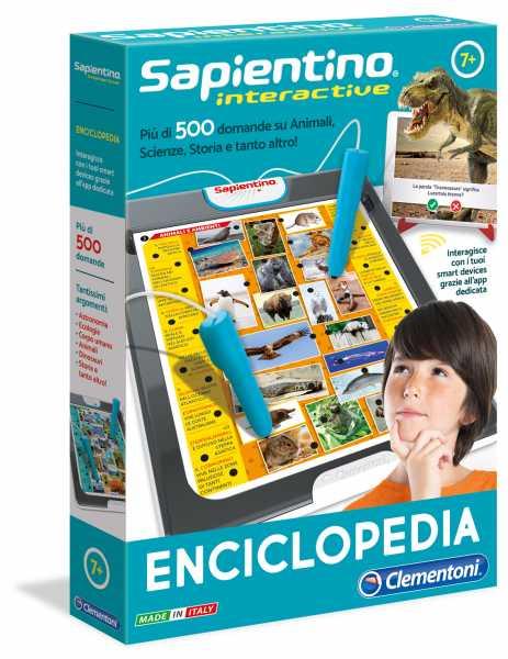 Clementoni- Sapientino-Interactive Enciclopedia, Multicolore, 11999
