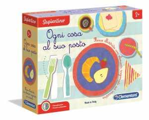 Clementoni- Sapientino-Ogni Cosa Al Suo Posto Gioco Educativo, Multicolore, 3, 16138