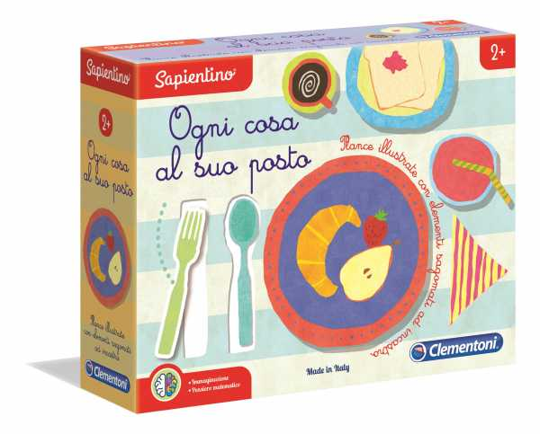 Clementoni-16138-Sapientino-Ogni Cosa Al Suo Posto, Gioco Educativo, Multicolore, 16138