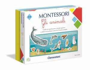 Clementoni-16100-Montessori-Gli Animali, Gioco Educativo, Multicolore, 16100