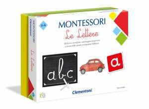 Clementoni-16098-Montessori-Le Lettere, Gioco Educativo, Multicolore, 16098