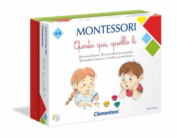 Clementoni-16137-Montessori-Questo Qui, Quello Lì, Gioco Educativo, Multicolore, 16137