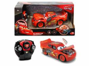 Simba - RC Cars 3 Lightning McQueen Crazy Crash Radiocomando 1:24, Colore Rosso, 1