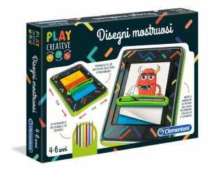 Clementoni - 15263 - Play Creative - Disegni Mostruosi