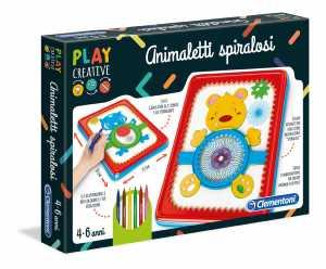 Clementoni - 15264 - Play Creative - Animaletti Spiralosi
