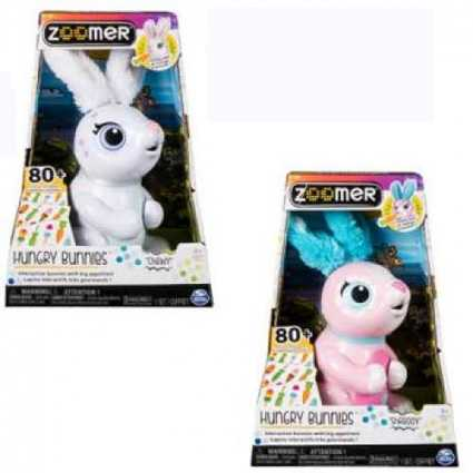 Zoomer Hungry Bunny Coniglio Interattivo, Colori Assortiti, 6044085