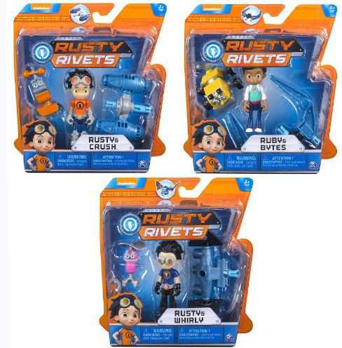 RUSTY RIVETS Mini Personaggi, Multicolore, 6033996