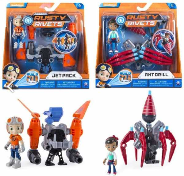 Rusty Rivets- Personaggi Con Accessorio, Multicolore, 6034118