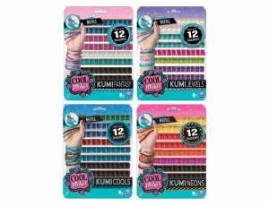 Cool Maker Kit Ricarica Per 12 Braccialetti Kumi, Colore Assortito, 96 Rocchetti, 6038304